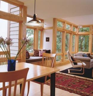 open floor plan with lots of windows home living room