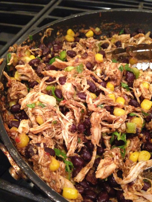crock pot taco chicken with black beans and corn