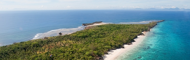 aerial view of balesin island (mauban, quezon province).