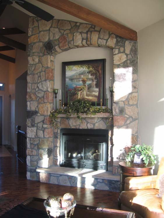 Stone Fireplace In Tuscan Style Home Tuscan Pinterest