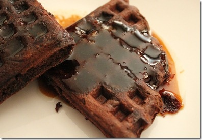 Chocolate-Hazelnut Waffles With Frangelico-Brown-Butter Syrup Recipes ...