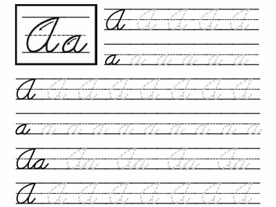 Cursive Writing Worksheets For 2nd Grade: Free Printable Cursive Worksheets For 2nd Grade html  Handwriting    ,