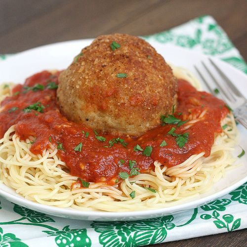 Tracey's Culinary Adventures: Cheesy Chicken Parm Meatballs