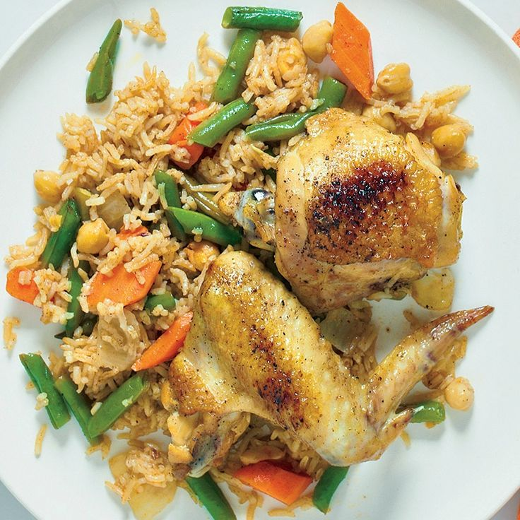 chicken with rice broccoli and scallions or chicken and rice ...