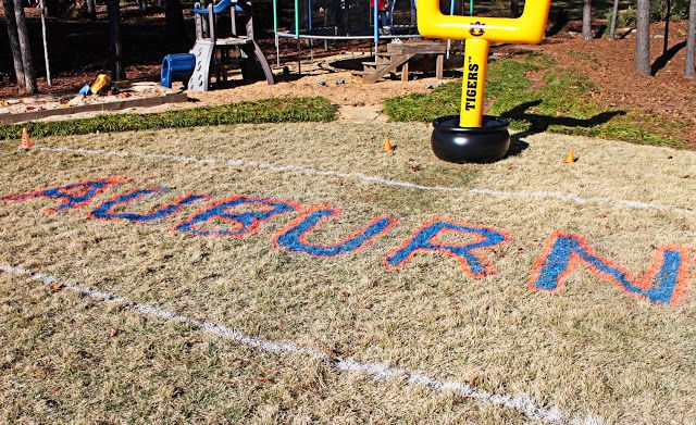 Football Field In Your Backyard : Football Party spray paint your backyard (or an empty field, with