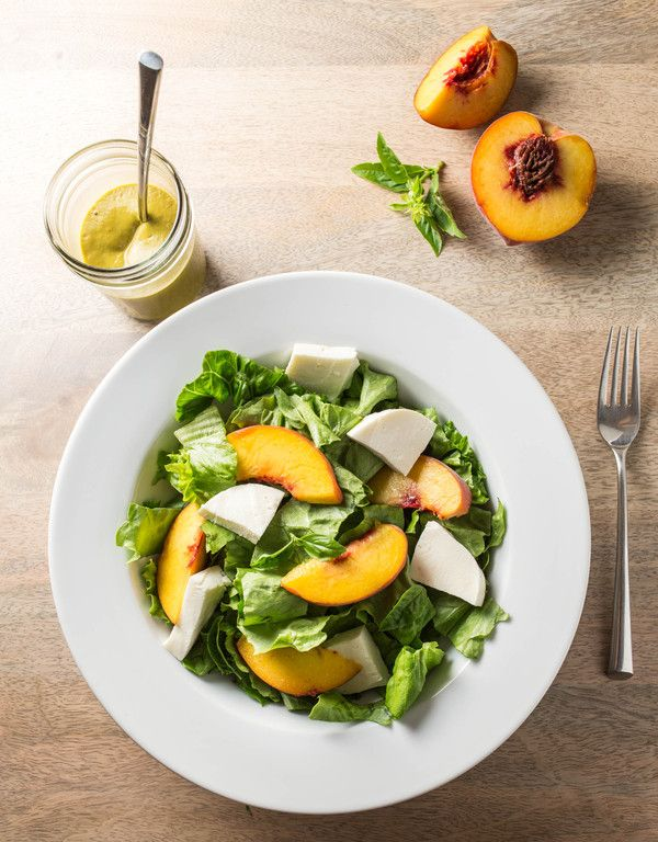 Peach + Basil Salad Dressing | yum | Pinterest