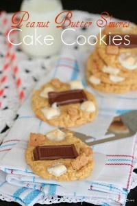 Peanut Butter S'mores Cake Cookies from Picky Palate (http://punchfork ...