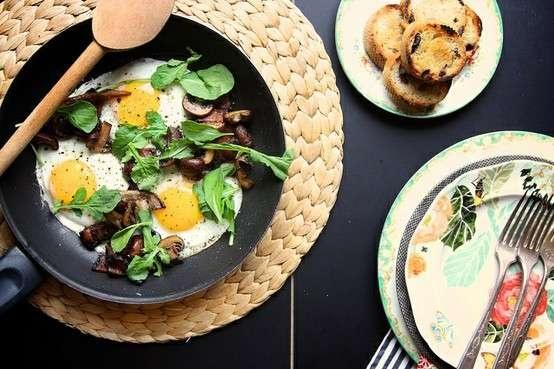 Mushroom And Bacon Breakfast Skillet | Breakfast Food | Pinterest