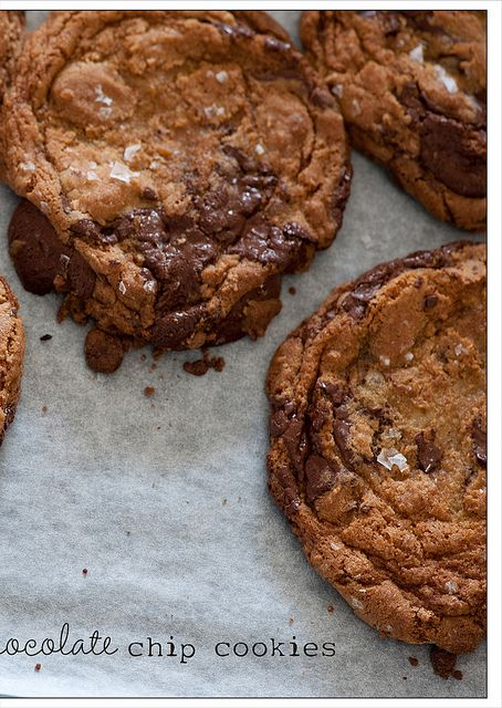 salted chocolate chip cookies | cookies | Pinterest