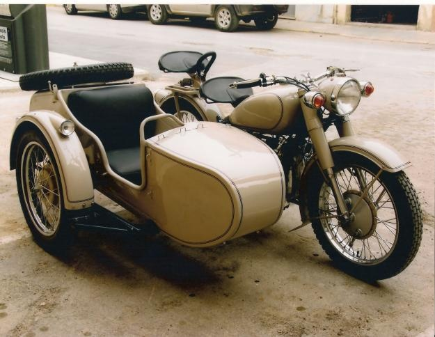 Motorcycle Sidecar Stock Images,