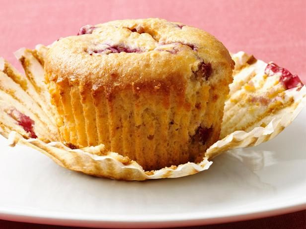 Low-Fat Raspberry-Corn Muffins from Food Network Magazine