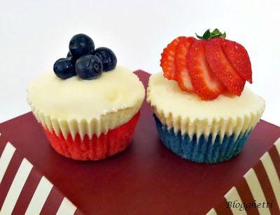 Red, White And Blueberry Cheesecake Yogurt Cupcakes Recipes ...