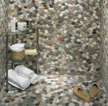 River rock shower for the home pinterest for River rock bathroom ideas