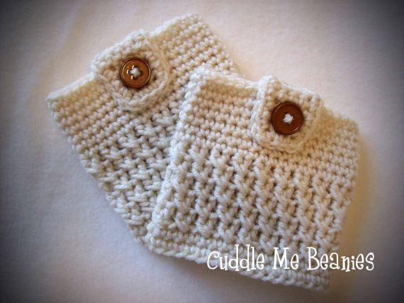 BUTTON-UP BOOT Cuff Crochet Pattern - Pdf - Newborn to Adult