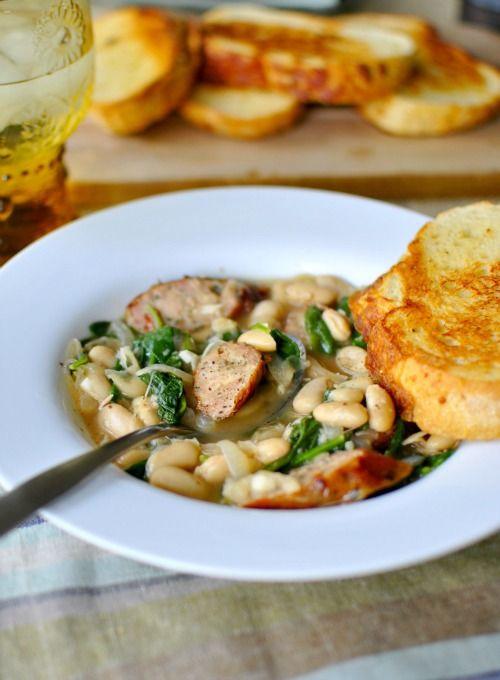 Chicken Sausage and White Bean Stew-Bite | Soups & Stews | Pinterest