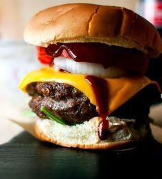 Whiskey Cheddar Burgers - (Free Recipe below)