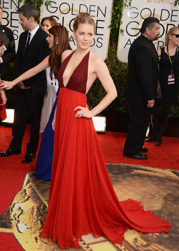 Amy Adams | Fashion On The 2014 Golden Globes Red Carpet...love her in ...