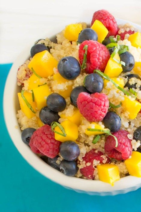 Quinoa Fruit Salad...Deliciously flavorful protein-packed salad ...