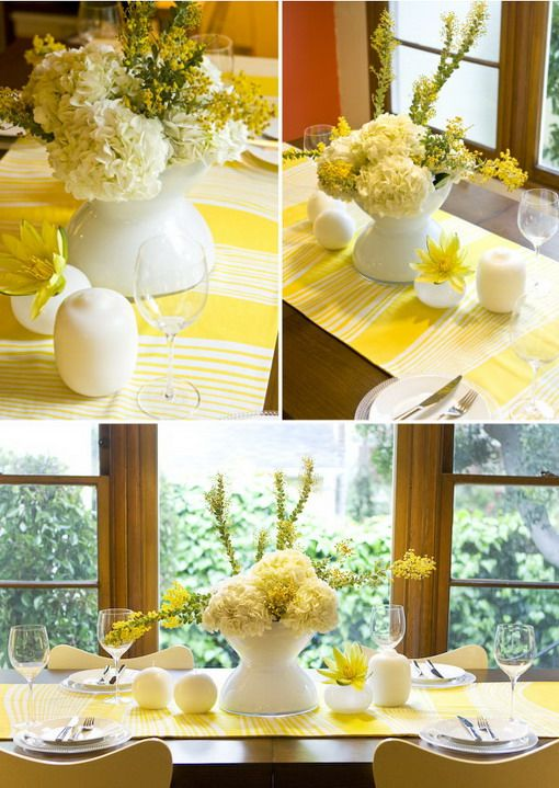 Yellow Wedding Table Decoration Ideas : Table decorations