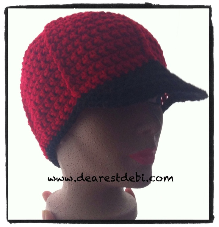 Mens Crochet Ball Cap - Free pattern by DearestDebi