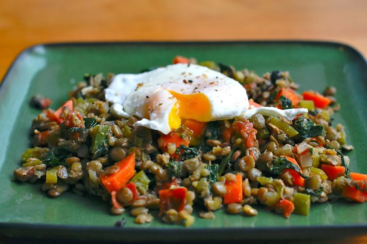 ... Than Toast: Meatless Monday : Warm Lentil Salad with a Poached Egg
