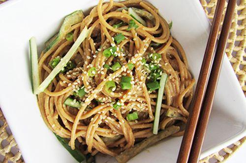 Cold Noodles with Sesame Peanut Sauce