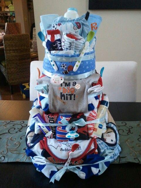 sports theme boys cake baby shower ideas pinterest