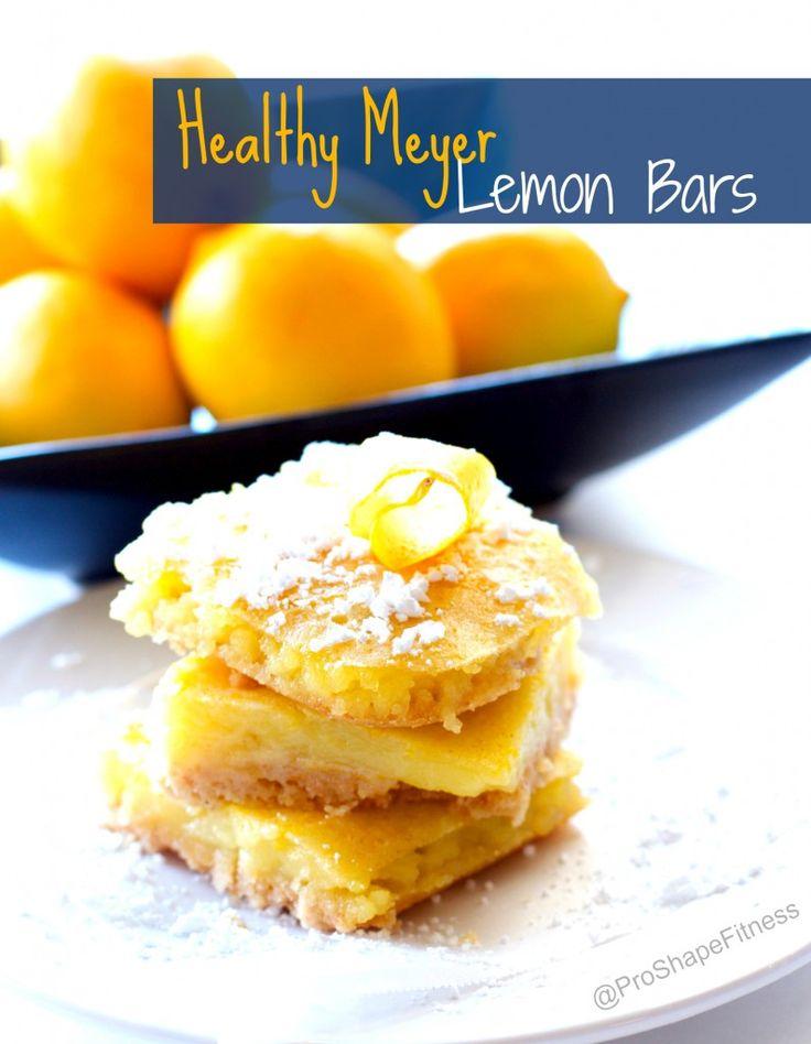 Healthy Meyer Lemon Bars.