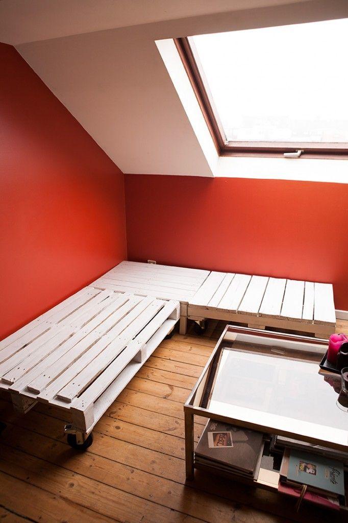 Diy palet sofa canap en palettes diy pinterest - Fabrication canape en palette ...