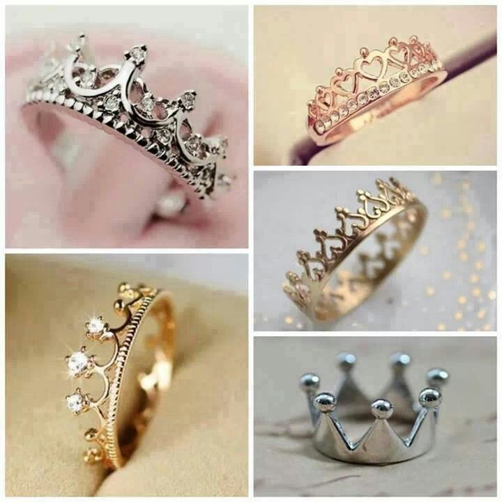 crown rings accessorize the world