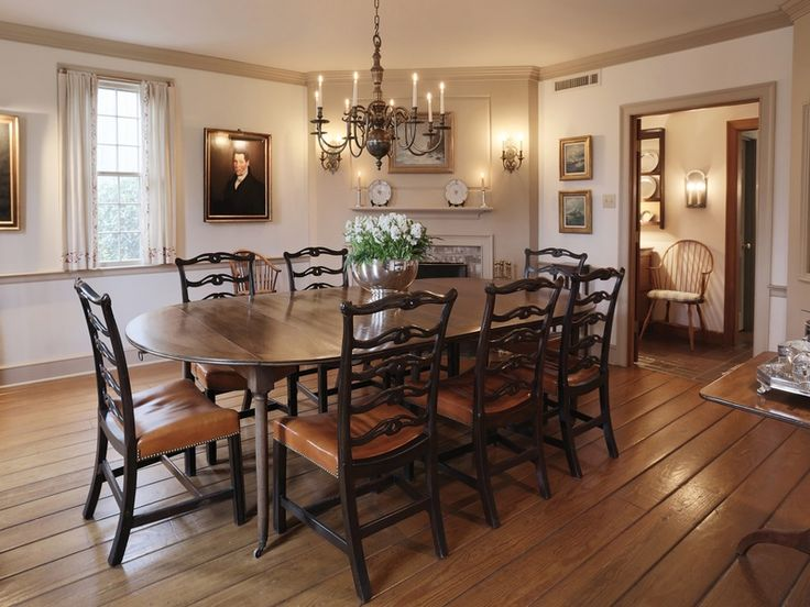 New England Style Home Dining Rooms Pinterest