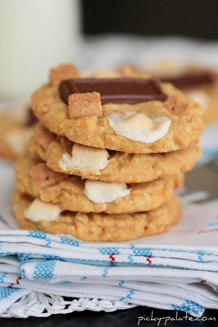 Peanut Butter S'mores Cake Cookies by Picky Palate http://picky-palate ...