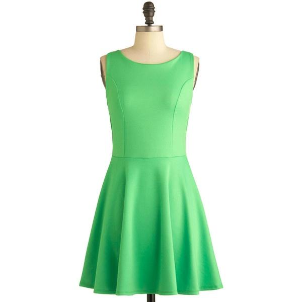 Green Appletini Dress ($45) liked on Polyvore