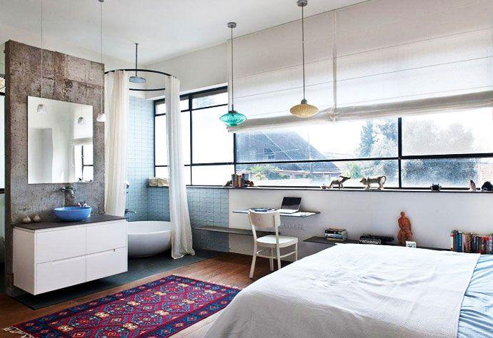 Chambre avec salle de bain ouverte chambres et salles de - Chambre avec salle de bain ouverte ...