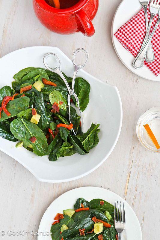 ... bacon vinaigrette spinach salad with fresh mozzarella pears and bacon