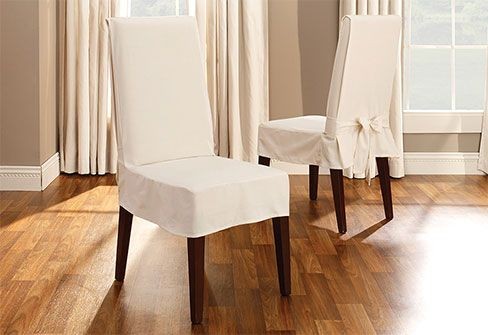 sure fit slipcovers cotton duck short dining chair cover shorty 14