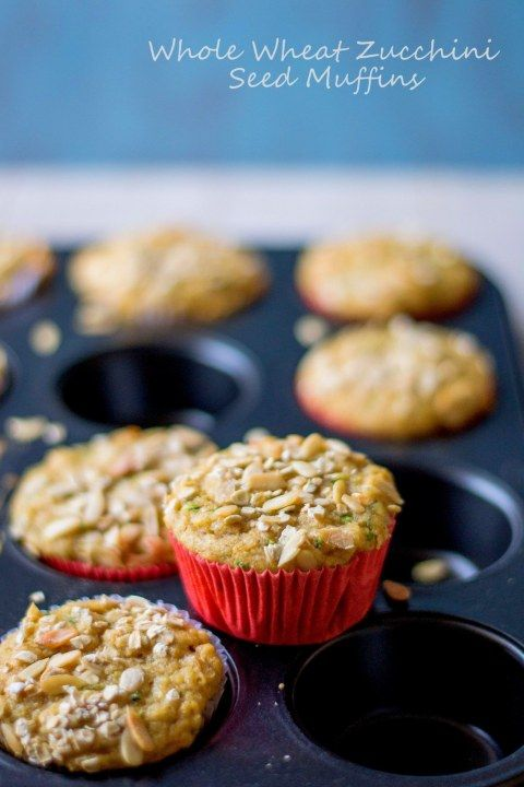 Whole Wheat Zucchini Seeds Muffins | cupcakes and popovers | Pinterest