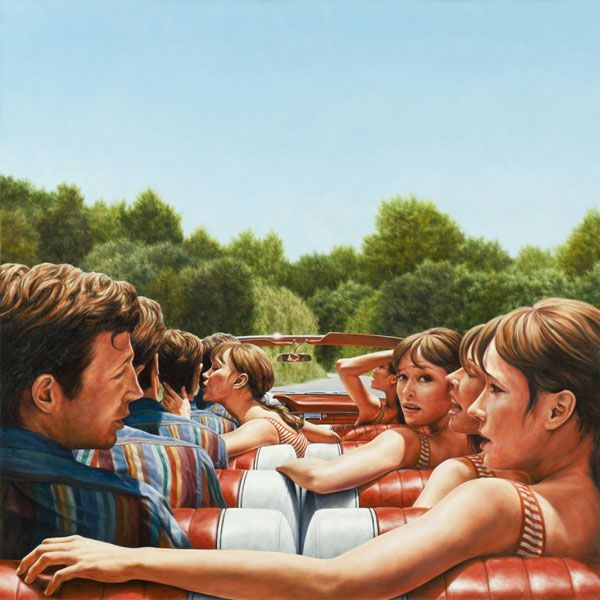 1961 Ford Galaxie 500 Sunliner (Pierrot Le Fou) | 2010 | oil on canvas | Eric White