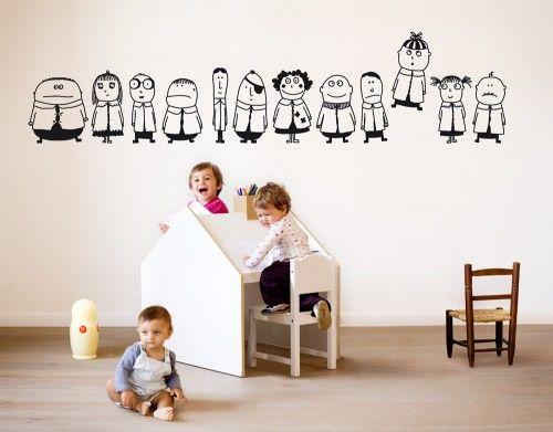 vinilos niños bumoon 2 500x391 Vinilos infantiles de diseño italiano, Bumoon