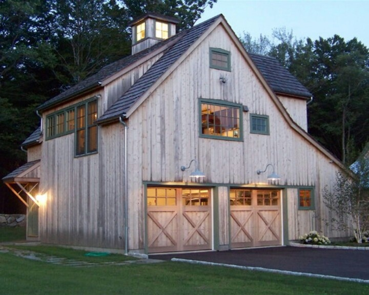 Barn garage beautiful garages pinterest Garage barn