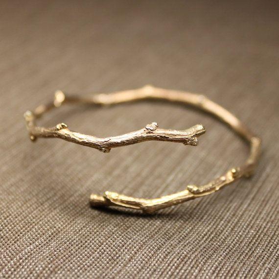 Simple branch wrap bangle