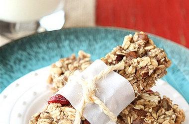low fat granola bars with bananas cranberries amp pecans punchfork