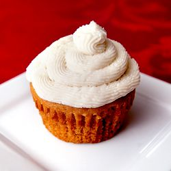 Scrumptious maple walnut cupcakes with vanilla buttercream frosting.