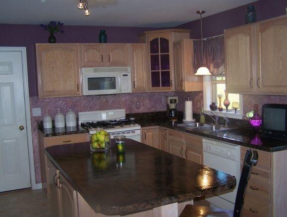 Purple Kitchen Countertop Design Ideas ~ Purple kitchen dining room ideas pinterest