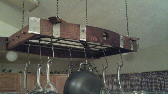 creative upcycled kitchen pot rack ideas barn envy