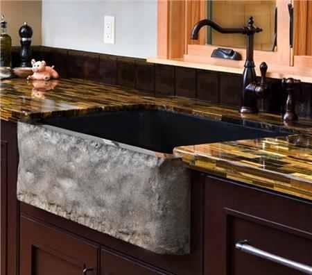 Stone Apron Sink : Granite apron sink Kitchen ideas Pinterest