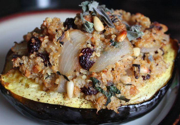 Quinoa Stuffed Acorn Squash – Healthy Vegetarian Recipe ...
