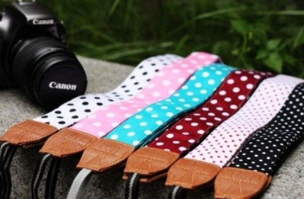 GroopDealz | Polka Dot Camera Straps