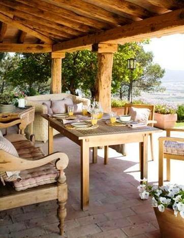 muebles coloniales para terraza  decoracion  Pinterest