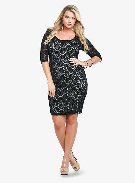 Black lace dress from torrid plus is a not a negative pinterest